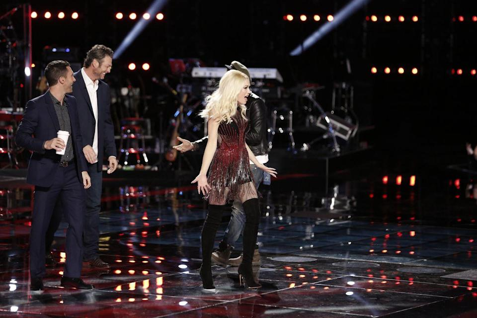 <p>After months of speculation, <em>E! News</em> reveals Gwen and Blake are dating. Shelton's rep confirms the news to the network after it's revealed Gwen had traveled to Nashville to be with Blake. Blake attends the Country Music Awards solo the next day. </p><p>The news is shared exactly one year (to the day) after Gwen first shared a pic of Blake on her Instagram page. Coincidence or not? </p>