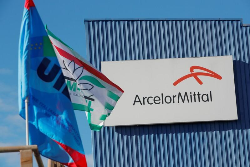 The Ilva steel plant, which ArcelorMittal is threatening to abandon over a legal row with the government, is seen in Taranto