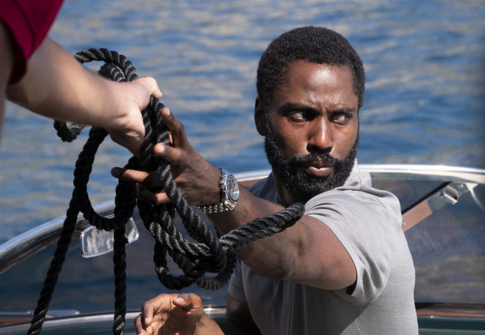 "JOHN DAVID WASHINGTON in Warner Bros. Pictures' action epic ""TENET,"" a Warner Bros. Pictures release. (Warner Bros.)"
