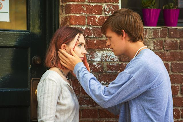 "Lucas Hedges with Saoirse Ronan in ""Lady Bird."" (Photo: A24/courtesy Everett Collection)"