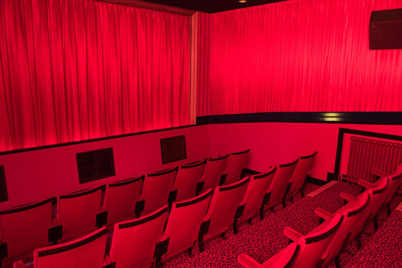 <p>The cinema shed boasts a movie theatre big enough for dozens of film fans to watch classic movies on a big screen. </p>