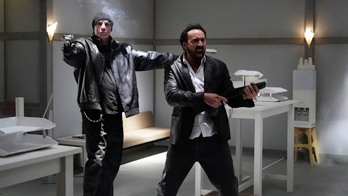Nick Cassavetes and Nic Cage in 'Prisoners of the Ghostland' (Photo courtesy of Sundance Institute)