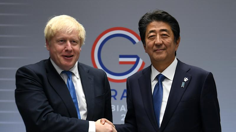 Johnson pays tribute to Japanese PM after abrupt resignation