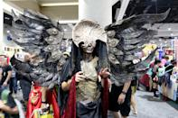 <p>Cosplayer dressed as the Angel of Death from <em>Pan's Labyrinth</em> at Comic-Con International on July 20 in San Diego. (Photo: Angela Kim/Yahoo Entertainment) </p>