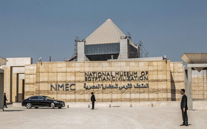 The new Egyptian National Civilization Museum in Cairo will open this year-KHALED DESOUKI & # xa0; / AFP