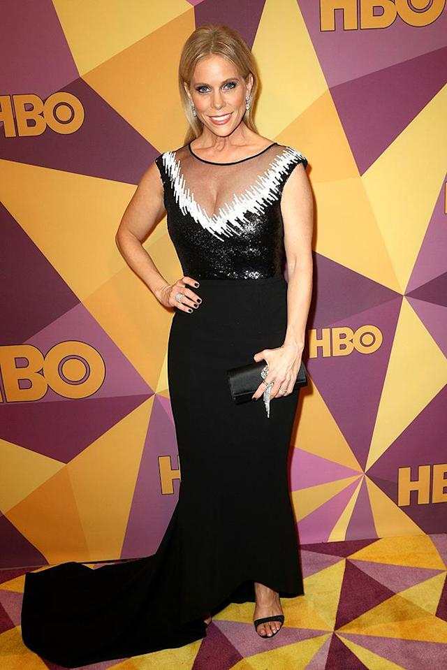 <p><em>Curb Your Enthusiasm</em>'s Cheryl Hines attends HBO's party. (Photo: Frederick M. Brown/Getty Images) </p>