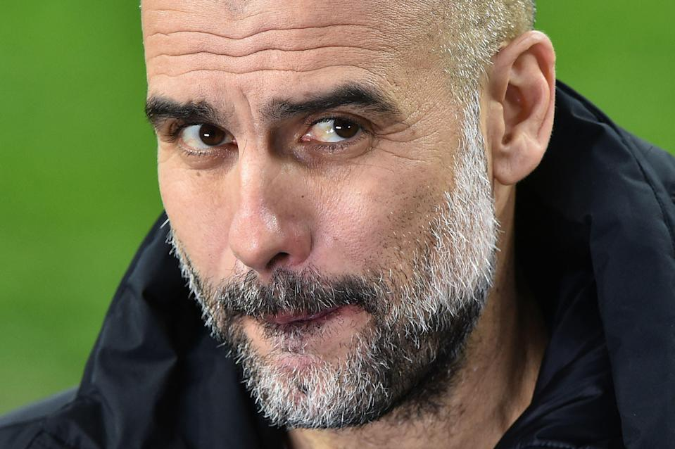 Pep Guardiola is cautious despite City's dominance in Europe (AFP)