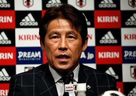 Japan's national soccer team's new head coach Akira Nishino attends a news conference in Tokyo, Japan April 12, 2018. REUTERS/Toru Hanai/Files