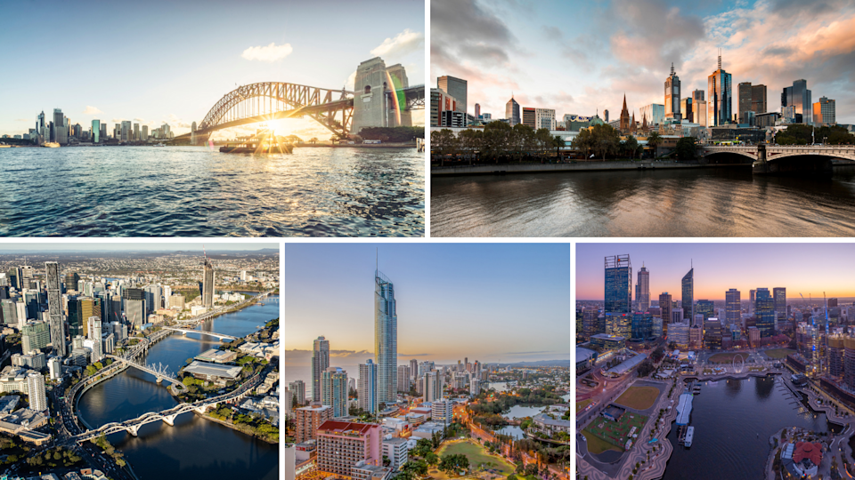Can you tell which five Australian cities made the cut for the list of the world's fastest luxury property price growth? (Source: Getty)