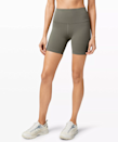 """""""The Wunder Train High Rise Shorts feature Lululemon's incredible Everlux Fabric — it's so breathable and sweat-wicking! I'm not a fan of super-short running shorts, so I love that these come in a six-inch length."""" - <a href=""""https://www.instagram.com/danidellarco/"""" rel=""""nofollow noopener"""" target=""""_blank"""" data-ylk=""""slk:Dani Dellarco"""" class=""""link rapid-noclick-resp""""><em>Dani Dellarco</em></a><em>, Echelon Trainer</em> $58, Lululemon. <a href=""""https://shop.lululemon.com/p/women-shorts/Wunder-Train-HR-Short-6/_/prod9750511?color=36763"""" rel=""""nofollow noopener"""" target=""""_blank"""" data-ylk=""""slk:Get it now!"""" class=""""link rapid-noclick-resp"""">Get it now!</a>"""