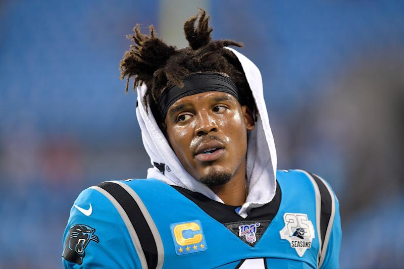 Whether Cam Newton returns to the Panthers will largely depend on his health. (Grant Halverson/Getty Images)