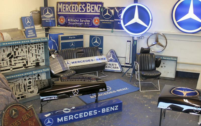The Mercedes-Benz artefacts date from the 1920s to the 1990s