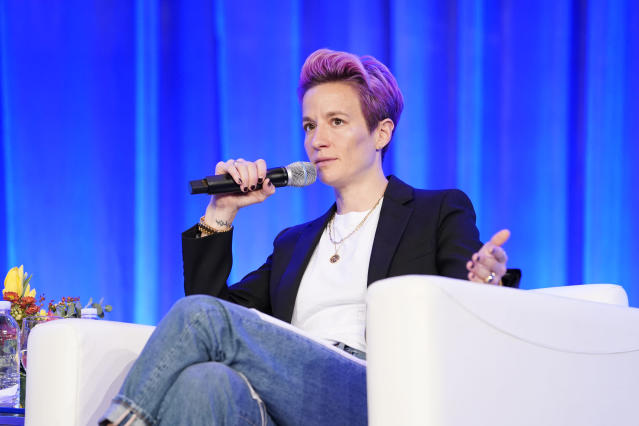 Megan Rapinoe speaks out about a host of topics, including racism in soccer. ( Marla Aufmuth/Getty Images for Texas Conference for Women 2019)