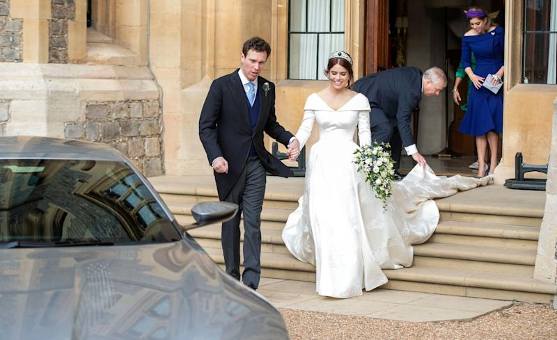 Britain's Princess Eugenie and Jack Brooksbank release official wedding photographs