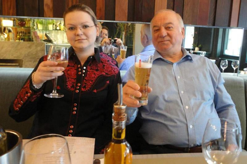 Poisoned: former Russian spy Sergei Skripal and his daughter Yulia before the nerve agent attack in Salisbury