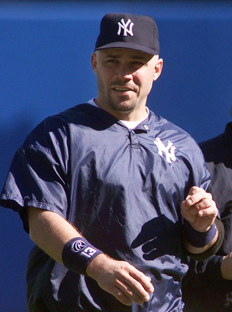 FILE - In this Oct. 21, 1999, file photo, New York Yankees Jim Leyritz works out at Yankee Stadium in New York. A jury in Florida on Saturday, Nov. 20, 2010, acquitted Leyritz of DUI manslaughter in a 2007 crash that killed a mother of two. However, Leyritz was convicted on a misdemeanor charge of driving under the influence, which carries a maximum sentence of six months in jail. (AP Photo/Mark Lennihan, File)