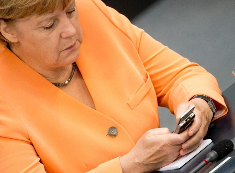 Germany is dropping a probe into alleged US eavesdropping on Chancellor Angela Merkel's phone conversations (AFP Photo/Kay Nietfeld)