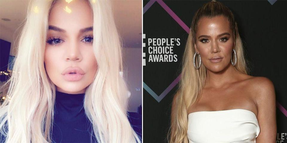<p>While everyone else was adding lowlights for fall, Khloe Kardashian made the switch from golden strands to bleach blonde. </p>