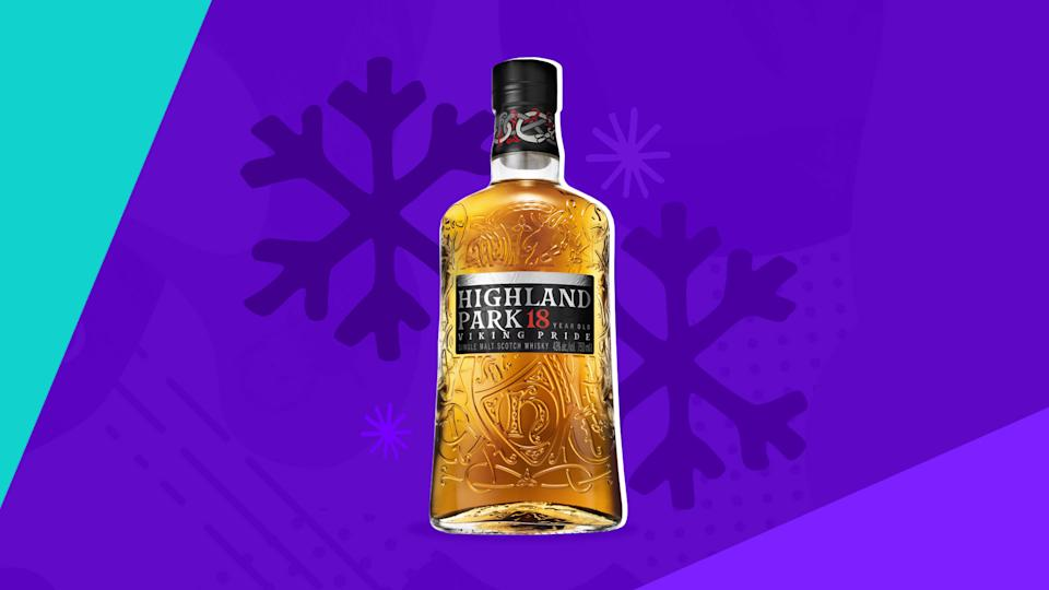 Highland Park 18 Year Whisky (Photo courtesy of Highland Park, Graphic design by Quinn Lemmers for Yahoo Entertainment)