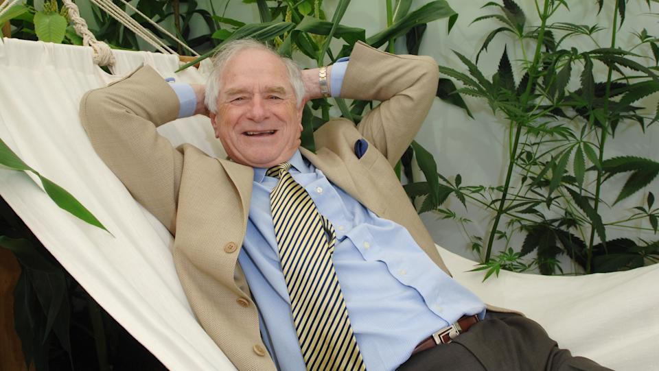 TV presenterJohnny Ball attends the Chelsea Flower Show. (Photo by Rune Hellestad/Corbis via Getty Images)