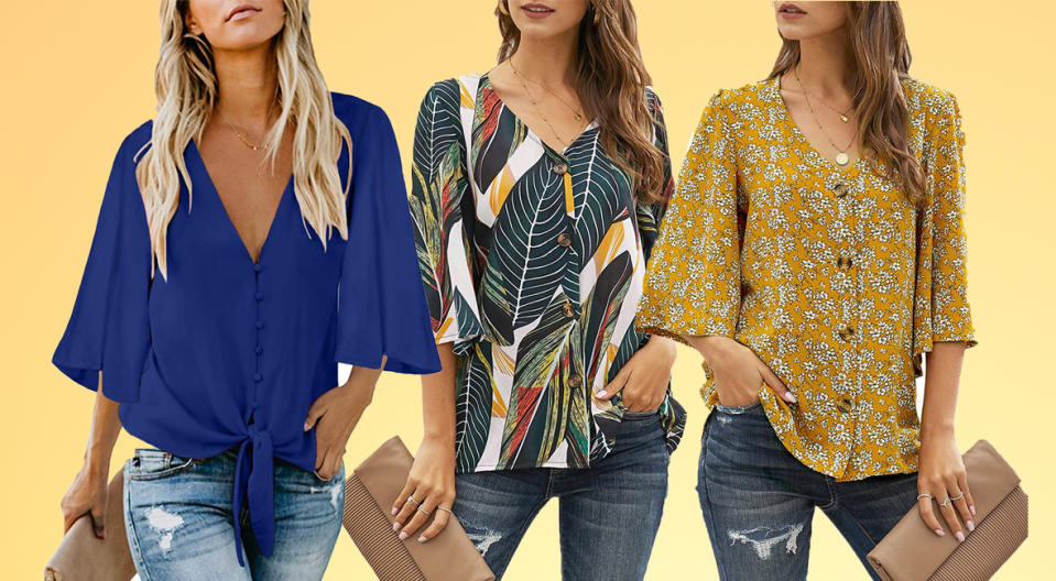 Each one of these blouses has its own unique twist. (Photo: Amazon)