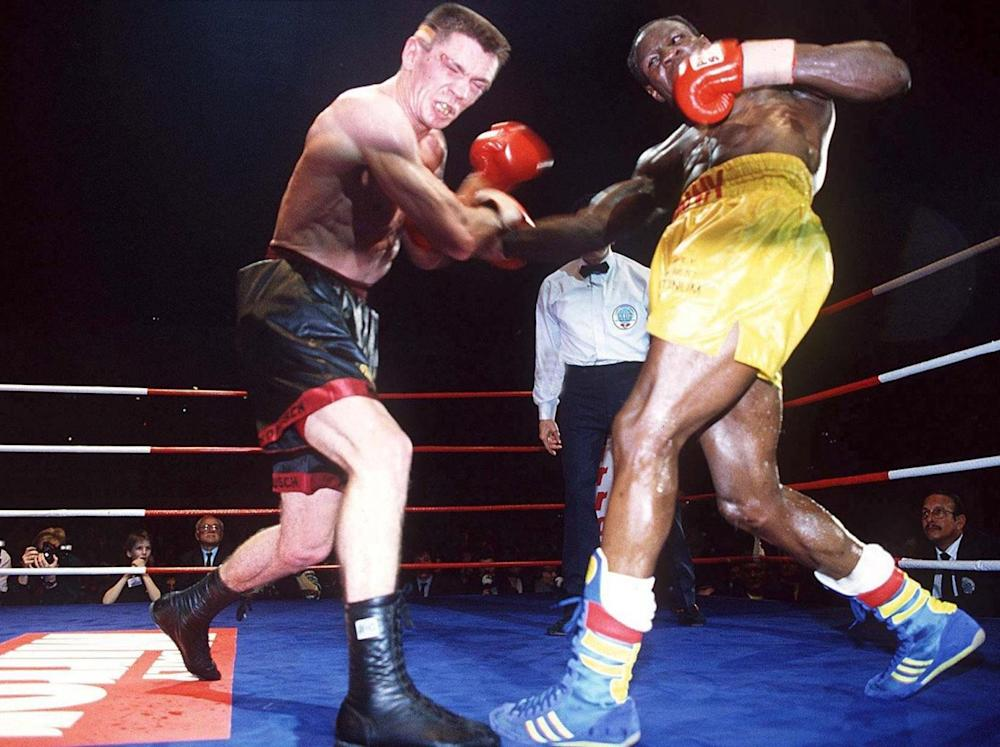 Eubank fought Rocchigiani in Berlin in 1994 (Bongarts)