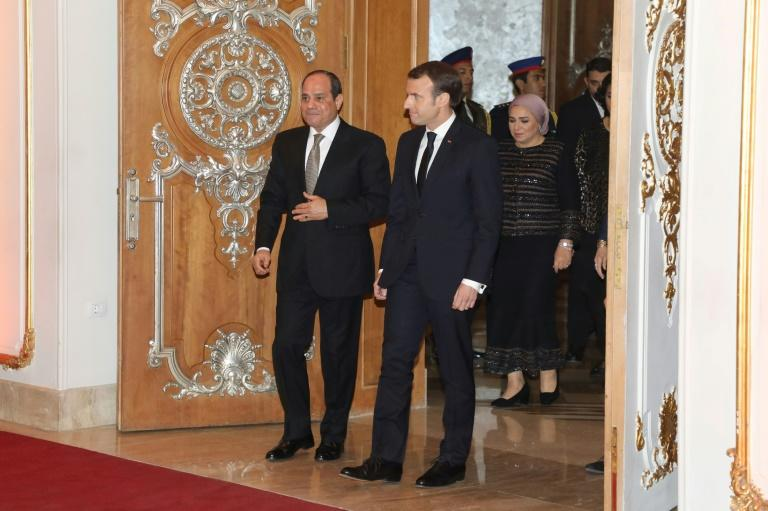 Macron visited Egypt in January, pressing Sisi on his rights record and urging him to respect freedoms
