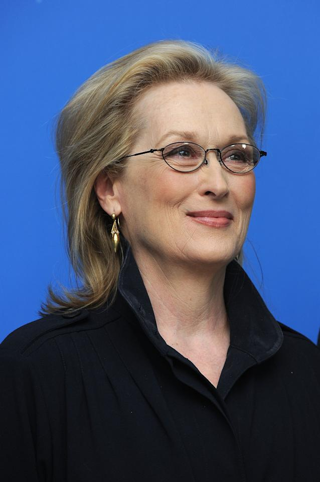 "BERLIN, GERMANY - FEBRUARY 14:  Actress Meryl Streep attends ""The Iron Lady"" Photocall during day six of the 62nd Berlin International Film Festival at the Grand Hyatt on February 14, 2012 in Berlin, Germany.  (Photo by Pascal Le Segretain/Getty Images)"