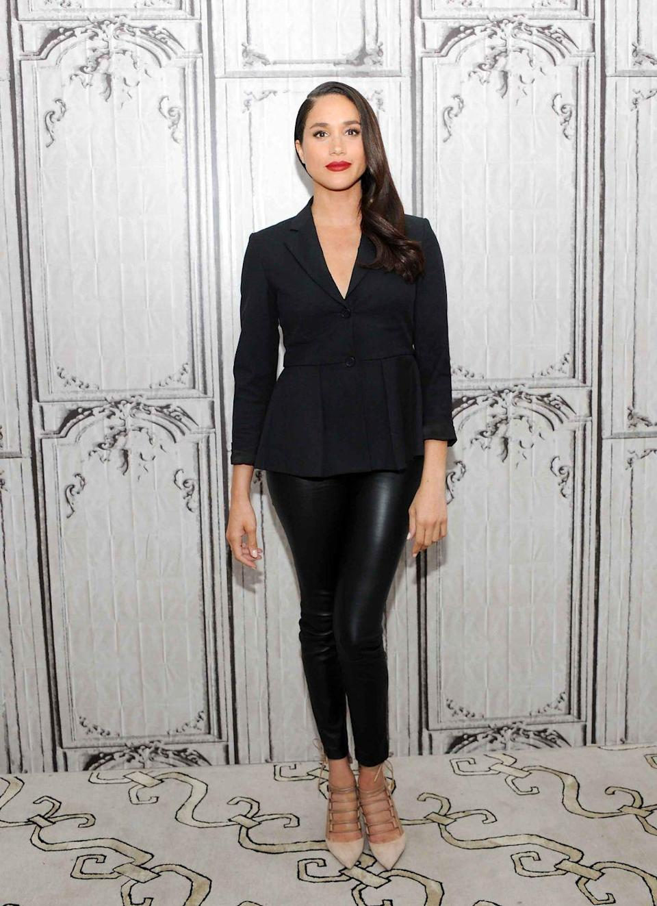 <p>A sophisticated black-on-black look at AOL Studios in New York.</p>
