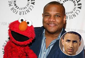 Elmo, Kevin Clash, Sheldon Stephens (inset) | Photo Credits: Andy Kropa/Getty Images; Sheldon Stephens