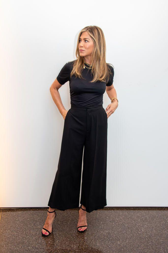 """<p> Aniston told Australia's <a href=""""https://www.nowtolove.com.au/beauty/skincare/jennifer-aniston-2017-40032"""" rel=""""nofollow noopener"""" target=""""_blank"""" data-ylk=""""slk:Now to Love"""" class=""""link rapid-noclick-resp"""">Now to Love</a> that she makes time to pamper herself one day a week. <b>""""</b>Sunday is my spa day. I usually do a little mini-facial time where I just give myself a good scrub, use a mask, and then the new Aveeno hydrating facial,"""" she said. """"I leave it on overnight and when I wake up I have that dewy, glowing, twinkling skin.""""</p>"""