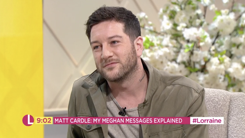 Matt Cardle appeared on Lorraine to clear up the speculation surrounding his private messages with Meghan Markle (ITV)