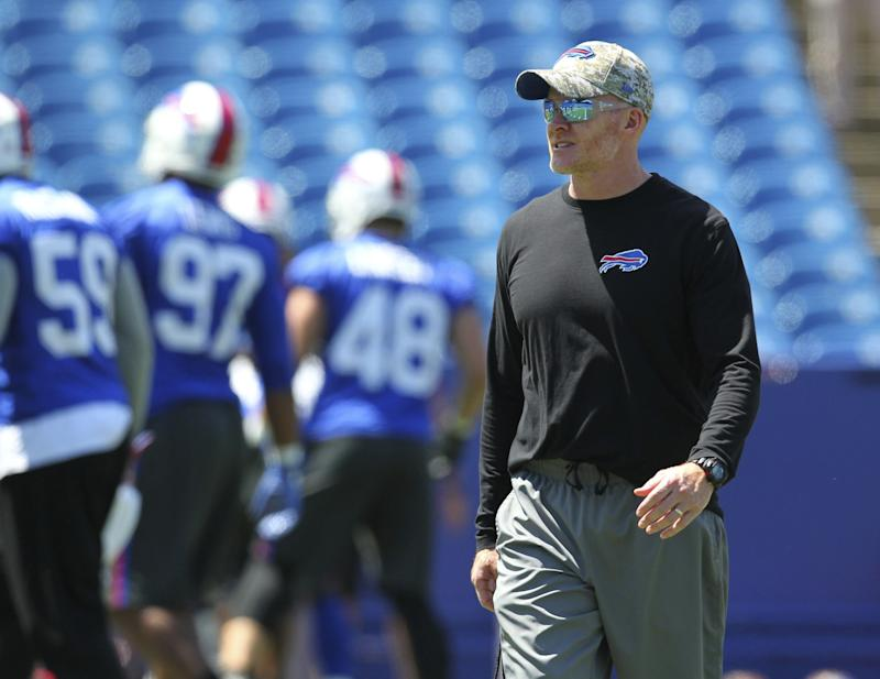 He's in charge now: Sean McDermott was given a lot of power in Buffalo. (AP)