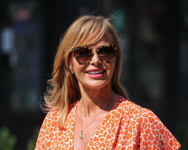 Amanda Holden has been giving fans a glimpse of her summer holidays, pictured here in June. (Getty Images)
