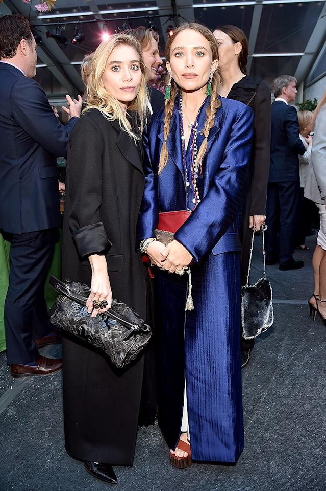<p>The Olsen twins hit the red carpet together for the 40th Anniversary Gala for Studio in a School in New York City. Of course, the designers were rocking some high-fashion looks. (Photo: Patrick McMullan/Patrick McMullan via Getty Images) </p>