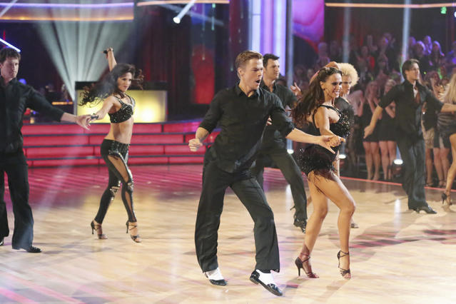 """""""Dancing With the Stars"""" featured a show stopping opening number with the entire cast, returning pros and dance troupe."""