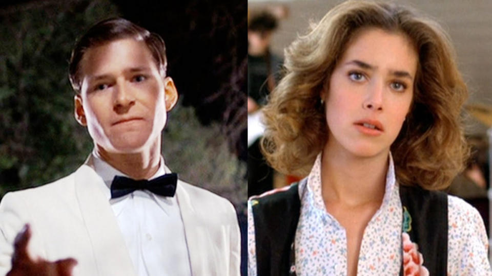 Crispin Glover and Claudia Wells in 'Back to the Future'. (Credit: Universal)