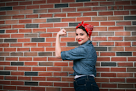 """<p><a href=""""https://www.history.com/topics/world-war-ii/rosie-the-riveter"""" rel=""""nofollow noopener"""" target=""""_blank"""" data-ylk=""""slk:Rosie the Riveter"""" class=""""link rapid-noclick-resp"""">Rosie the Riveter</a> was the star character of a campaign aimed at recruiting female workers during World War II, and is still instantly recognizable thanks to her signature red bandana. </p><p><strong>Get the tutorial at <a href=""""https://www.thehomesteady.com/my-blog/2015/10/5-feminist-halloween-costumes-you-can-make-for-practically-nothing.html"""" rel=""""nofollow noopener"""" target=""""_blank"""" data-ylk=""""slk:The Homesteady"""" class=""""link rapid-noclick-resp"""">The Homesteady</a></strong>. </p><p><a class=""""link rapid-noclick-resp"""" href=""""https://www.amazon.com/Levis-Mens-Printed-Bandana-Size/dp/B01MQ4II97/ref=sr_1_5?crid=2YQDRF5KZRY0O&dchild=1&keywords=red+bandanas&qid=1624895476&sprefix=red+bandana%2Caps%2C209&sr=8-5&tag=syn-yahoo-20&ascsubtag=%5Bartid%7C10050.g.4571%5Bsrc%7Cyahoo-us"""" rel=""""nofollow noopener"""" target=""""_blank"""" data-ylk=""""slk:SHOP BANDANAS"""">SHOP BANDANAS</a></p>"""