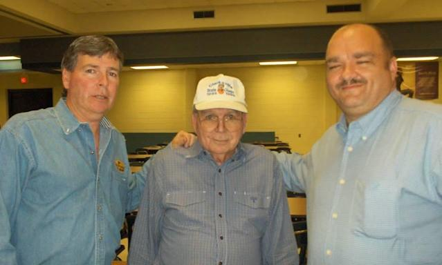 Buster Carlisle, center, with sons Randall, left, and John. (Courtesy of the Carlisle family)