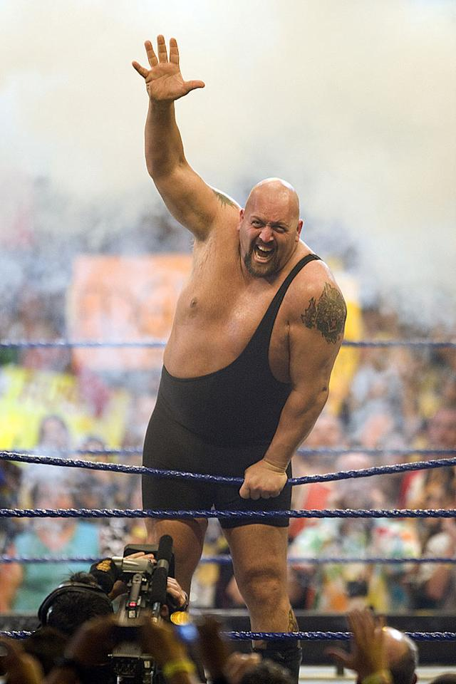 "The 7 foot, 485 pound Big Show proved once again that he just might be the Eighth Wonder of the World. Bob Levey/<a href=""http://www.wireimage.com"" target=""new"">WireImage.com</a> - April 5, 2009"