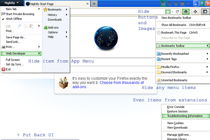 mozilla firefox how to re add add ons to bar
