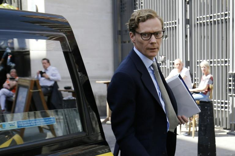 Alexander Nix, seen in a 2018 photo taken in London, was CEO of Cambridge Analytica, a consulting firm that US officials say deceived Facebook users when it harvested data for voter profiles