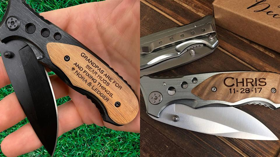 Best gifts for grandpa: Personalized pocket knife