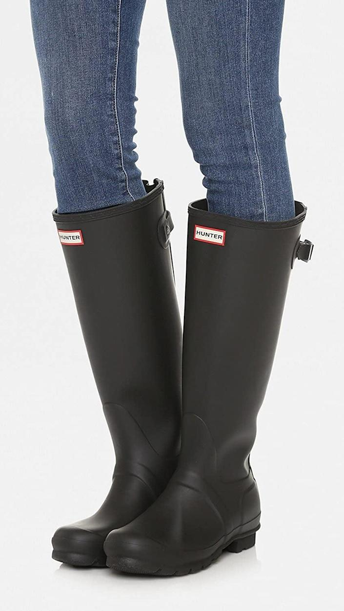 <p>These <span>Hunter Original Back Adjustable Rain Boots</span> ($165) are your answer to a rainy day. They will not only keep your feet dry, but you'll also look put-together as you navigate street poodles.</p>