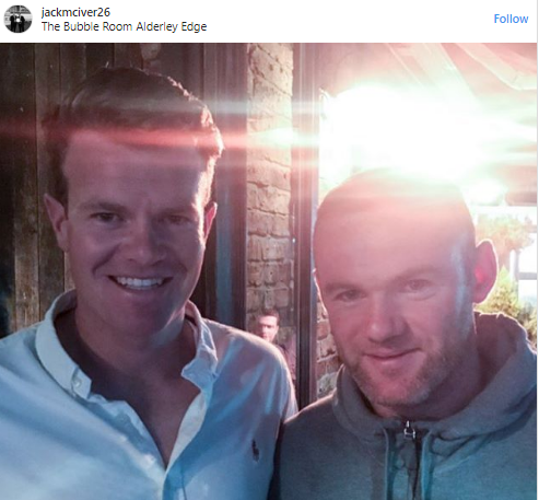 Wayne Rooney pictured in The Bubble Room on Thursday night