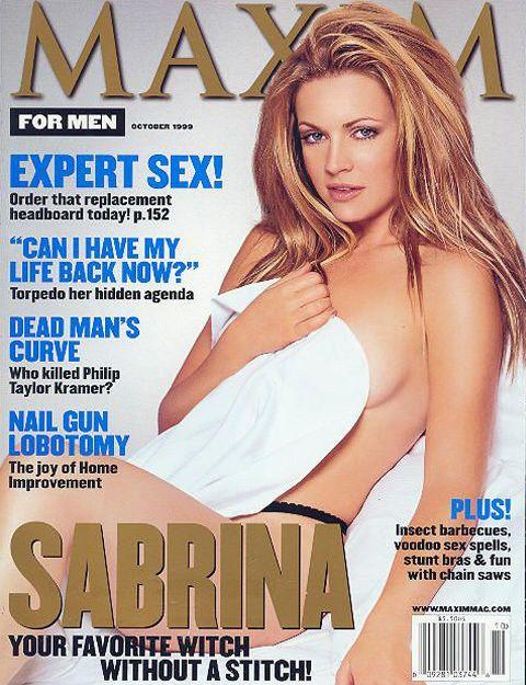 Melissa Joan Hart in the Maxim photo shoot she attend while she was still reportedly high. Credit: Maxim