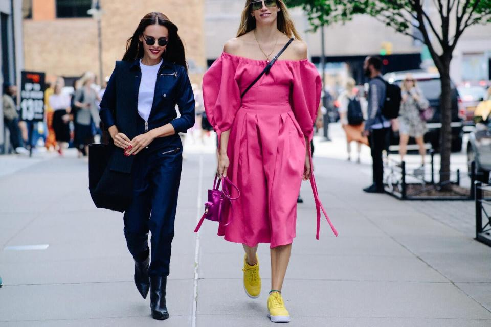 <p>Are we bored of puff ball sleeves yet? Nope, never (or, so fashion week SS18 suggests). <em>[Photo: Katz Sinding]</em> </p>