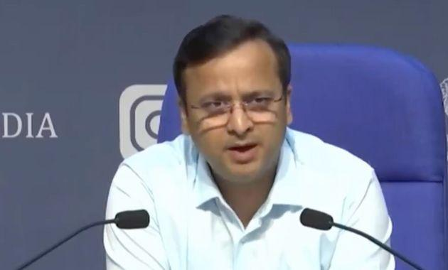 Lav Agarwal, joint secretary at the ministry of health, at thepress briefing on Wednesday.