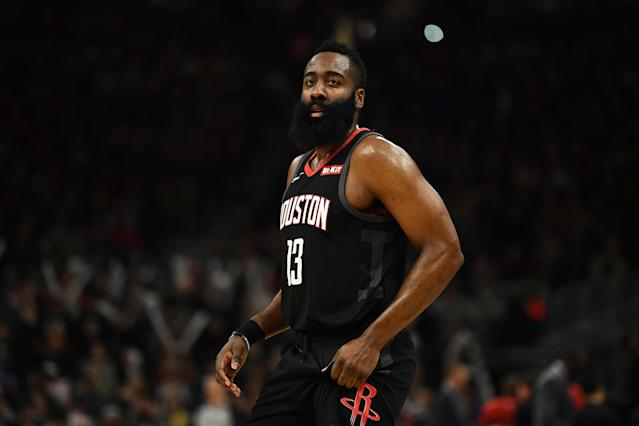 James Harden. (Photo by Stacy Revere/Getty Images)