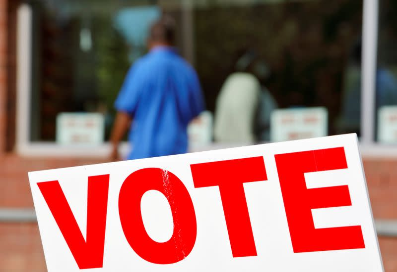 FILE PHOTO: Polling place on election day in Durham, North Carolina